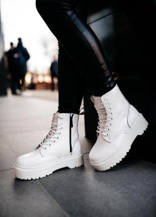 Женские ботинки зима белые😍dr martens jadon white😍зимние сапог...