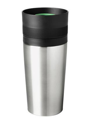 ЭФТЕРСОКТ Дорожная кружка, нержавеющая сталь, 20287685, IKEA