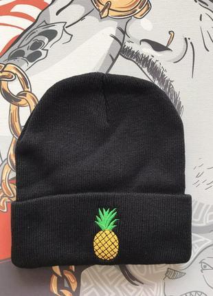 Шапка черная ананас позитивная распродажа
