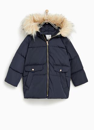 Пуховая куртка zara 11-12 лет, 152 см для девочки