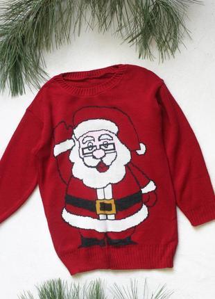 Новогодний свитер с дедом морозом (40), размер s