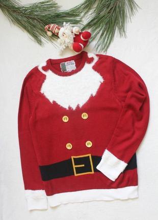 Мужской новогодний свитер деда мороза (78), размер l