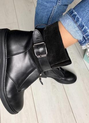 Lux обувь! ❤️натуральные зимние демисезонные ботинки сапоги ко...