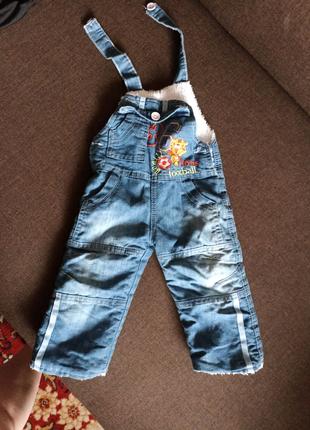 Комбинезон джинсовый зима на 1 год