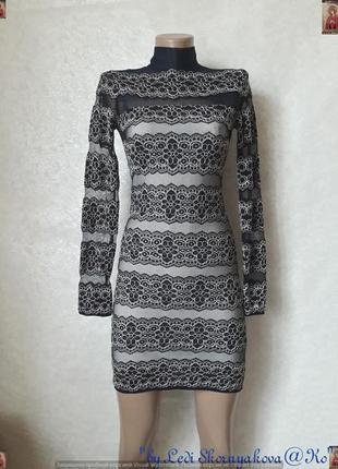 Новое нарядное силуетное платье по фигуре в сеточку и кружевом...