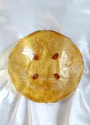 Ваза цветное стекло винтаж СССР