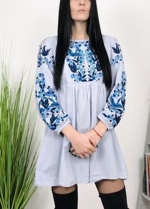 Платье с вышивкой вышивка zara