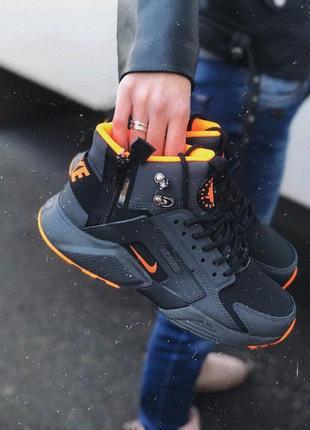 Nike huarache  acronym black/orange найк