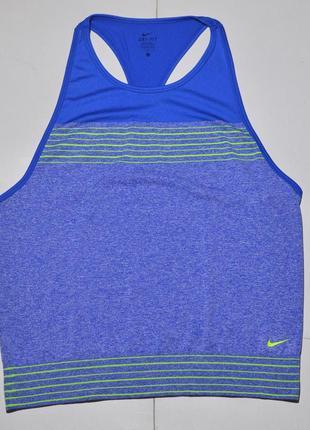 Беговая майка nike womens dri-fit knit loose tank top 682895-480