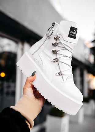 Женские сникерсы💖puma x white💖сапоги/ботинки пума, жіночі белы...