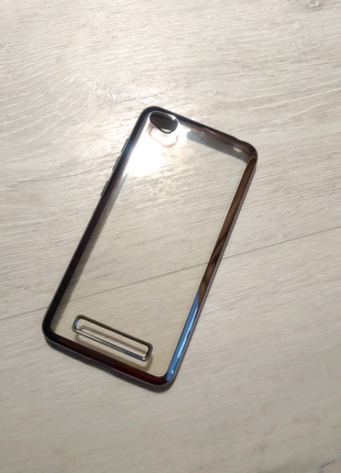 Чехол силиконовый Xiaomi Redmi 4A серый борт