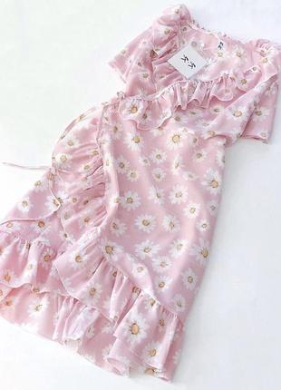 ✅красивое платье на запах с рюшами воланами нежный цветочный п...