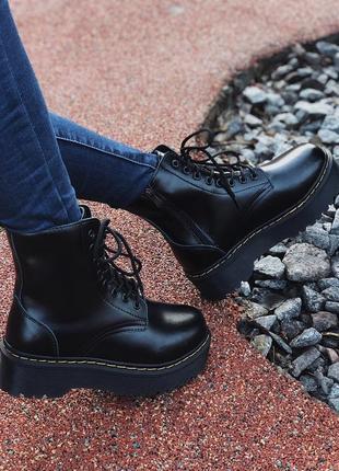 Женские/жіночі зимние ботинки мартинс🌹dr martens jadon black🌹ч...