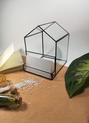 Креативная стеклянная визитница в технике Тиффани (декор, подарок