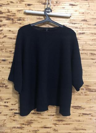 Шерстяной джемпер кофта cos чёрного цвета оверсайз