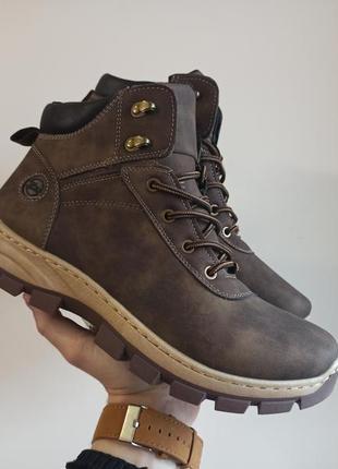 Sale мужские зимние ботинки кроссовки цвет кофе коричневые