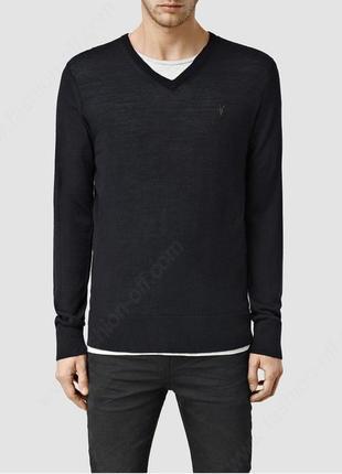 Кофта пуловер 100% шесть мериноса allsaints