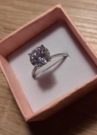 Кольцо с камнем, камешком, камушком, серебро 925
