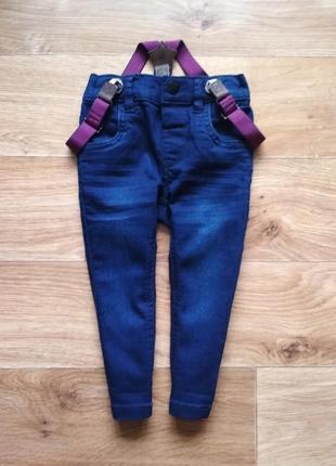 Крутые джинсы скини с подтяжками