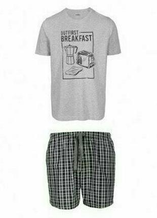 Летний комплект мужская пижама домашний костюм livergy германи...
