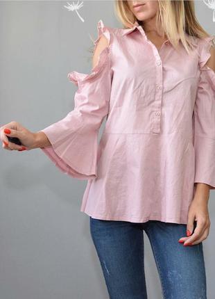 Блуза пыльно-розового цвета