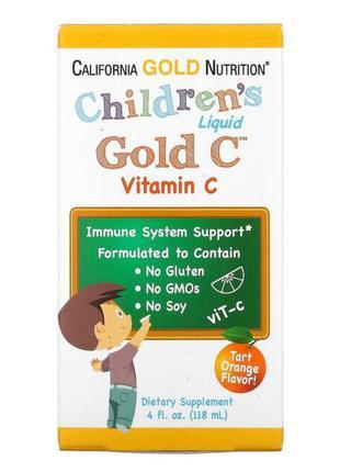 Витамин с детский в сиропе апельсин california gold nutrition ...