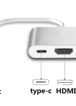 Переходник Адаптер Конвертер USB Type C - to - HDMI / USB 3.1 ...