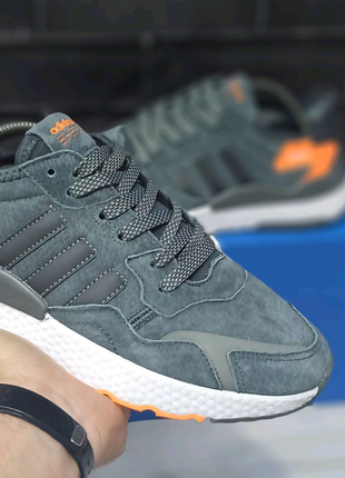 Кроссовки мужские Adidas Nite Jogger Grey Адидас Найт осень