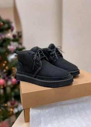 Ugg neumel black! мужские замшевые зимние угги/ сапоги/ ботинк...