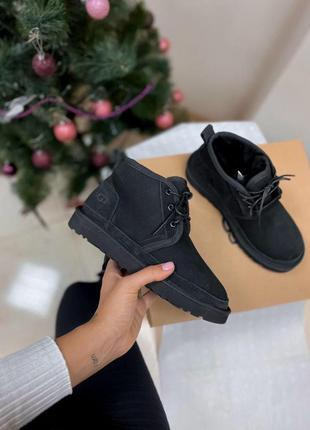 Ugg neumel black! женские замшевые зимние угги/ сапоги/ ботинк...