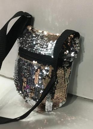 Детская сумочка в пайетках! супер подарок!