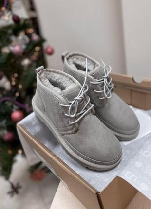 Ugg neumel grey! женские замшевые зимние угги/ сапоги/ ботинки...