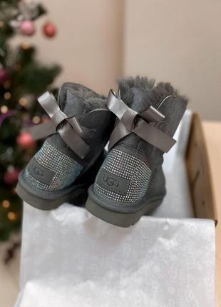 Ugg diamond grey! женские замшевые зимние угги/ сапоги/ ботинк...