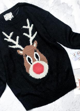 Новогодний свитер с оленем new look new look
