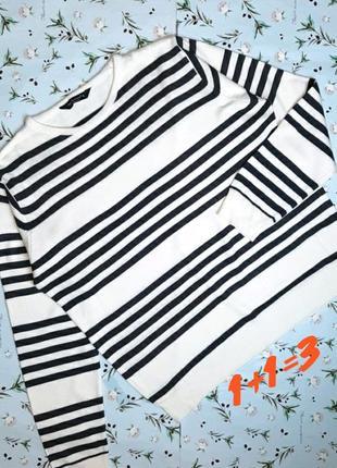 🎁1+1=3 фирменный белый свитер в полоску cedarwood state, разме...