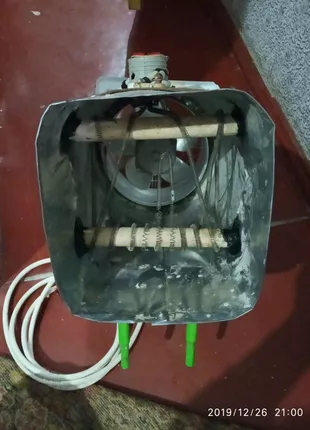 Тепловая пушка електрическая, ручная работа