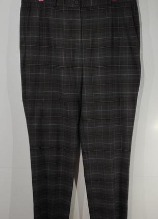 Женские зауженные теплые брюки размер 46