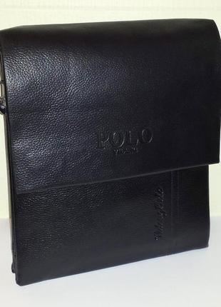 Элитная сумка через плечо polo а1753-4 (26х22x7см)