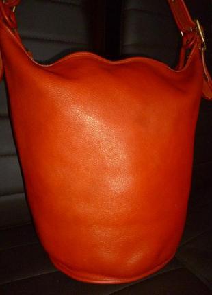 Стильная большая сумка натуральная кожа coach
