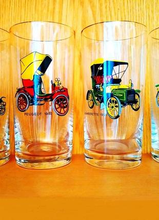 Коллекционные стаканы оригинал богемия чешское стекло с ретро ...