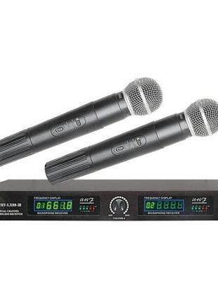 Радиосистема Shure UHF-LX88-III, 2 беспроводных микрофона и ба...