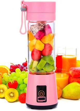 Фитнес блендер-шейкер Daiweina DWN-3S Smart Juice Pink портати...