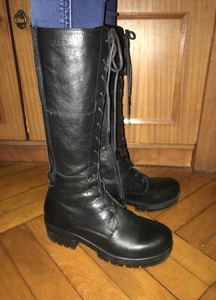 Высокие сапоги на шнуровке/сапоги в милитари стиле