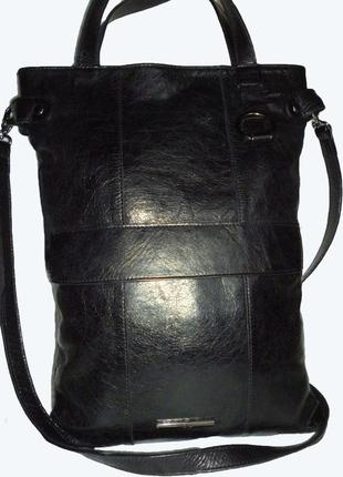 Стильная сумка натуральная кожа mona