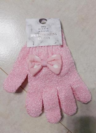 Массажная мочалка перчатка минни мауз, 2шт в наборе