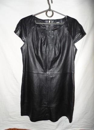 Платье вечернее из натуральной кожи oasis в идеальном новом со...