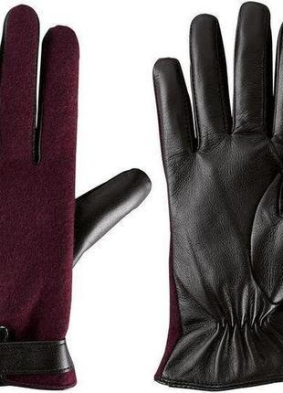 Женские кожаные перчатки с шерстью esmara германия, теплые