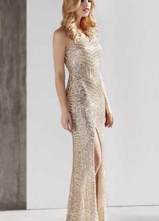 Платье нарядное шикарное для выпускного торжества  паетки ново...