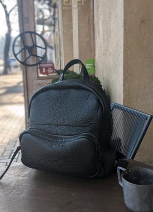 Рюкзак,  лучшая итальянская кожа, YKK