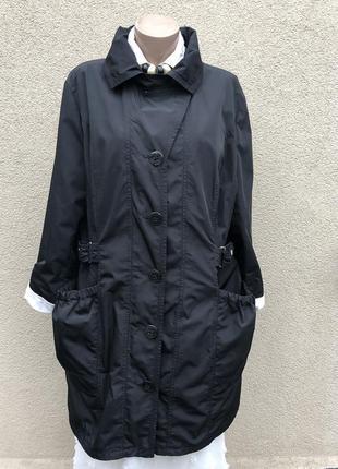 Чёрная куртка,плащ,тренч,ветровка,дождевик,большой размер,батал,